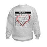 Twilight Wanted Kids Sweatshirt