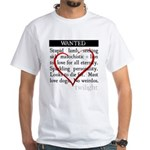 Twilight Wanted White T-Shirt