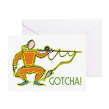 Fencing Fisherman Greeting Card