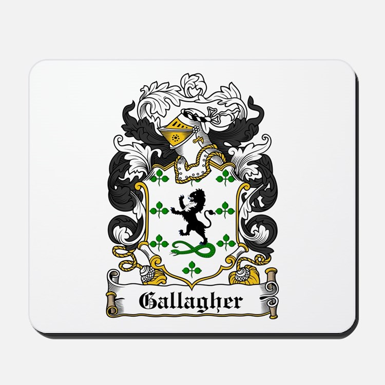 Gallagher Coat of Arms Mousepad