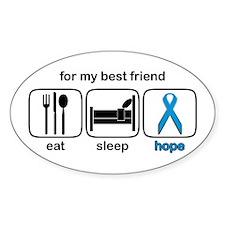 Best Friend ESHope Prostate Oval Decal