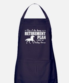 I Plan On Riding Horses T Shirt Apron (dark)