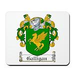 Galligan Coat of Arms Mousepad