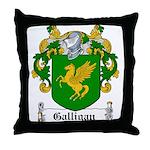 Galligan Coat of Arms Throw Pillow