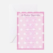 Girl Baby Sprinkle Greeting Card