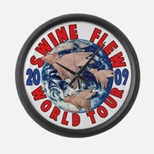 Swine Flew World Tour Large Wall Clock