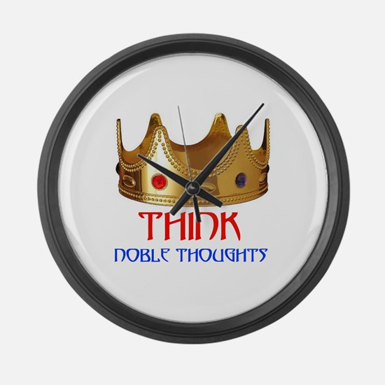 NOBLE THOUGHTS Large Wall Clock