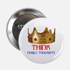 """NOBLE THOUGHTS 2.25"""" Button"""