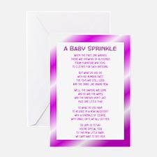 Girl Baby Sprinkle Greeting Card