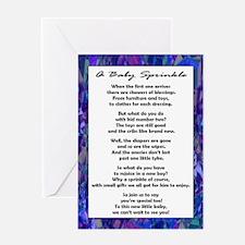 Boy Baby Sprinkle Greeting Card