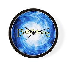 """""""Believe"""" Vortex Blue Clock"""
