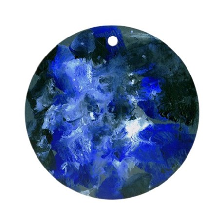 MANUEL Thick A Ornament (Round)
