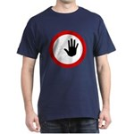 Restricted Access Sign T-Shirt - Blue