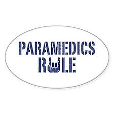 Paramedics Rule Oval Decal