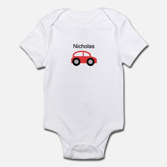 Nicholas - Red Car Infant Bodysuit