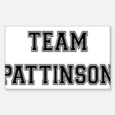 Team Pattinson Rectangle Decal