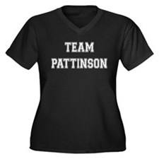 Team Pattinson Women's Plus Size V-Neck Dark T-Shi