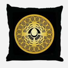 Mayan Calendar Crop Circle Throw Pillow