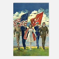 Vintage Patriotic Militar Postcards (Package of 8)