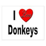 I Love Donkeys Small Poster
