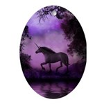 Enchanted Unicorn Oval Ornament