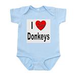I Love Donkeys Infant Creeper