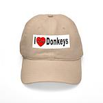 I Love Donkeys Cap