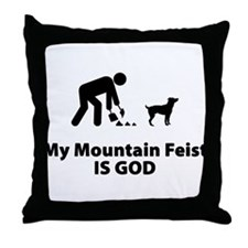 Mountain Feist Throw Pillow