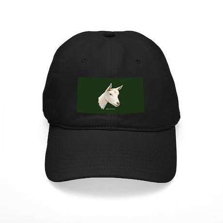 Saanen Dairy Goat Black Cap