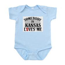 Somebody In Kansas Infant Creeper