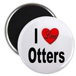 I Love Otters Magnet