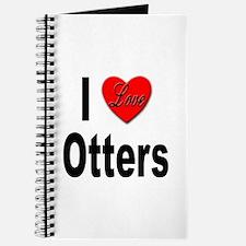 I Love Otters Journal