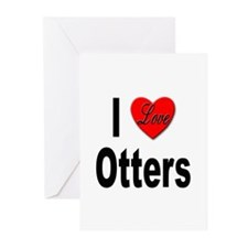 I Love Otters Greeting Cards (Pk of 10)