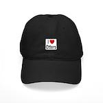 I Love Otters Black Cap