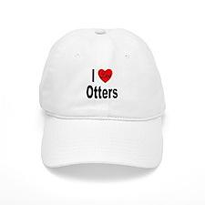 I Love Otters Baseball Cap