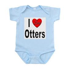 I Love Otters Infant Creeper