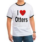 I Love Otters (Front) Ringer T