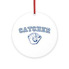 Catcher - Blue Round Ornament