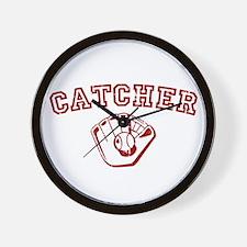 Catcher - Red Wall Clock