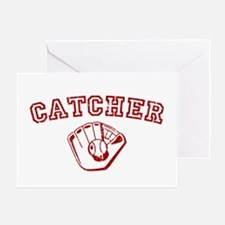 Catcher - Red Greeting Card