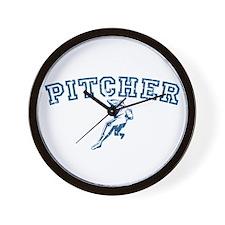 Pitcher - Blue Wall Clock