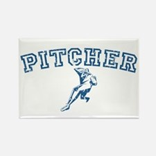 Pitcher - Blue Rectangle Magnet