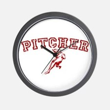 Pitcher - Red Wall Clock