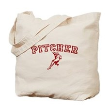 Pitcher - Red Tote Bag
