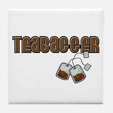 Teabagger Tile Coaster