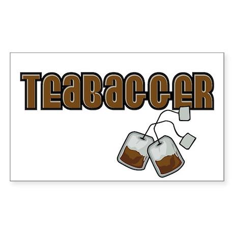 Teabagger Rectangle Sticker