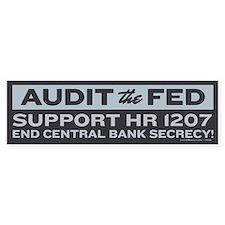Audit the Fed Bumper Bumper Sticker