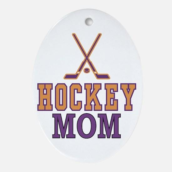 Hockey Mom Oval Ornament