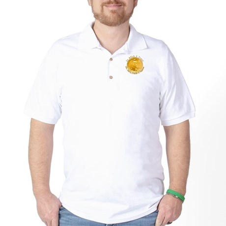Crown King Golf Shirt-Gold Coin Front