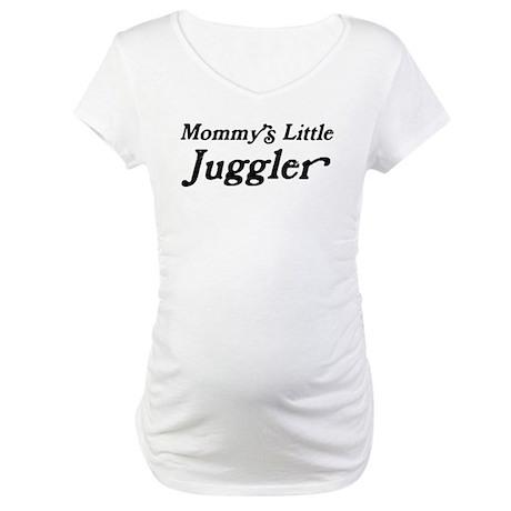 Mommys Little Juggler Maternity T-Shirt